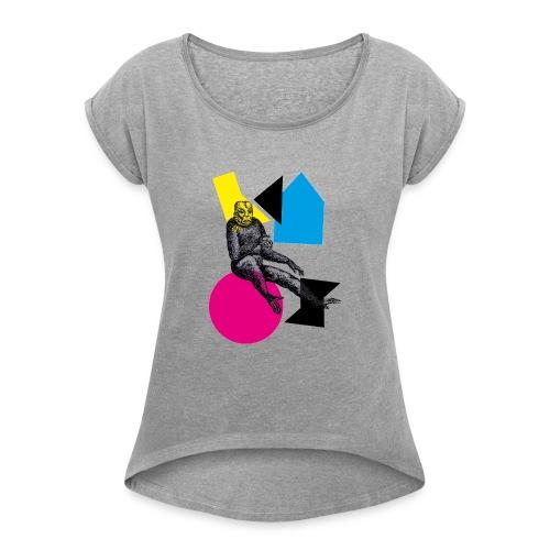 chaos chaos - Frauen T-Shirt mit gerollten Ärmeln