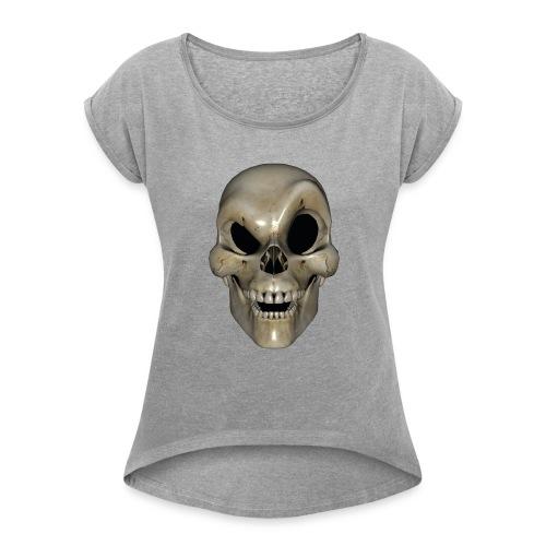 Smart Skull - T-skjorte med rulleermer for kvinner