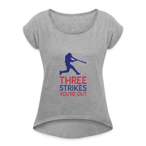 Design 103 - T-shirt à manches retroussées Femme