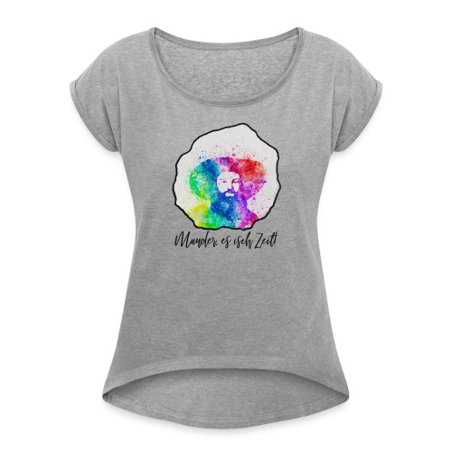 Andreas Hofer - Tirol - Frauen T-Shirt mit gerollten Ärmeln