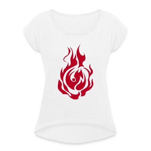 feu - T-shirt à manches retroussées Femme