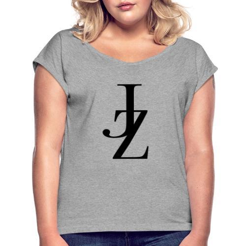 JZ Logo - Frauen T-Shirt mit gerollten Ärmeln