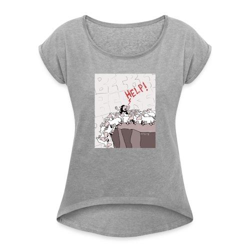 black sheep - Maglietta da donna con risvolti