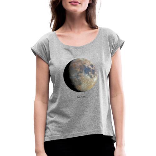 moon luna piena - Maglietta da donna con risvolti