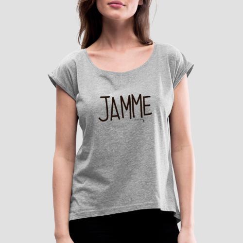 Jamme - Maglietta da donna con risvolti