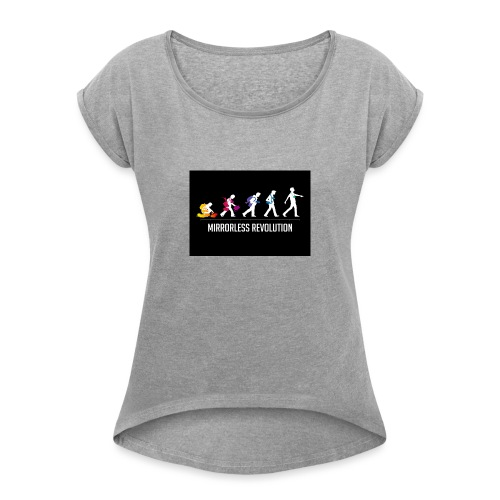 mirrorless evolution - Camiseta con manga enrollada mujer