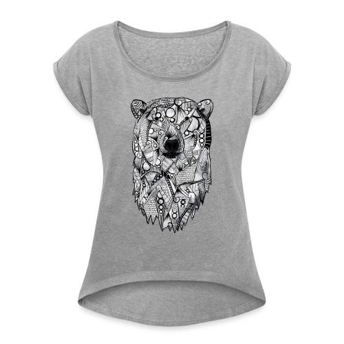Isbjørn - T-skjorte med rulleermer for kvinner