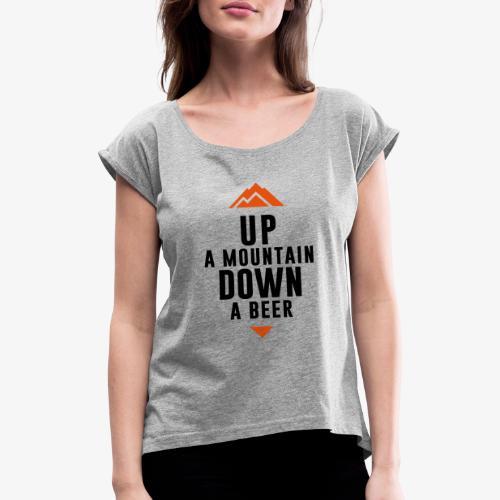 UP Mountain Down Beer - T-shirt à manches retroussées Femme
