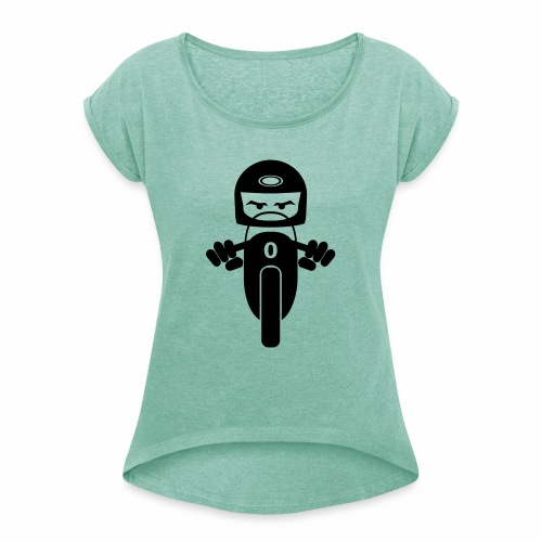 Motorcycle rider 1 - Women's T-Shirt with rolled up sleeves