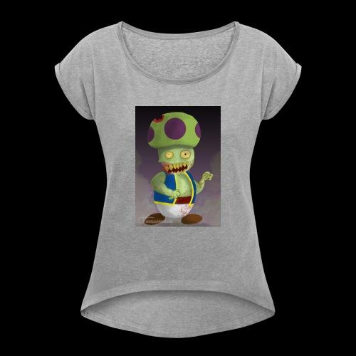 SuperMario: Zombie Toad - Vrouwen T-shirt met opgerolde mouwen