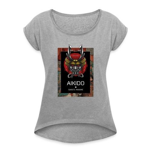 aikido sainte-maxime - T-shirt à manches retroussées Femme