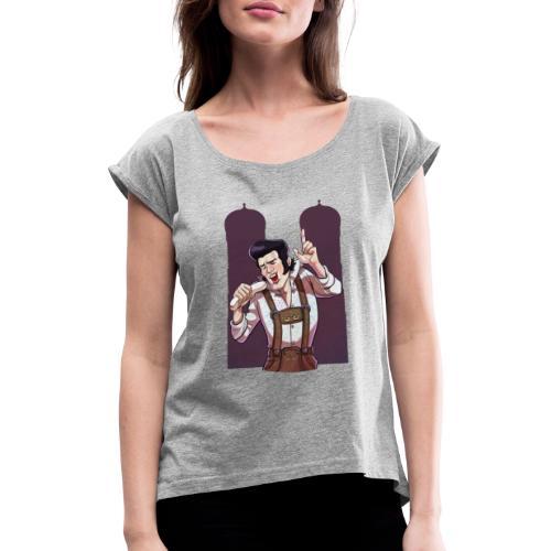 München   Las Vegas - Oase der Ekstase - Frauen T-Shirt mit gerollten Ärmeln