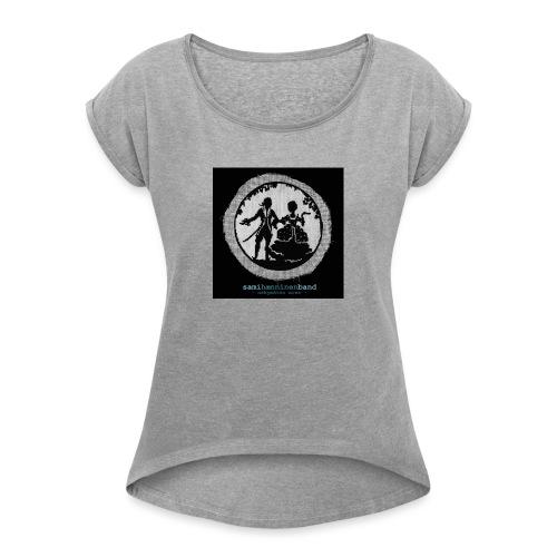 SHB - Näkymätön mies - Naisten T-paita, jossa rullatut hihat