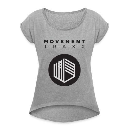 Movement Traxx - 'Standard Logo 3' - T-shirt à manches retroussées Femme