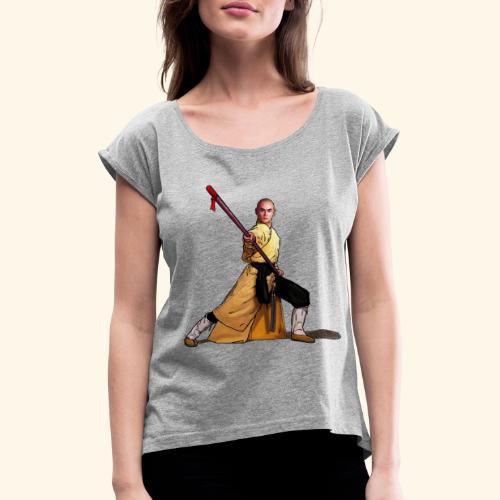 Shaolin kriger munk - Dame T-shirt med rulleærmer