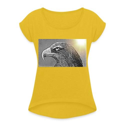 Aigle majestueux - T-shirt à manches retroussées Femme