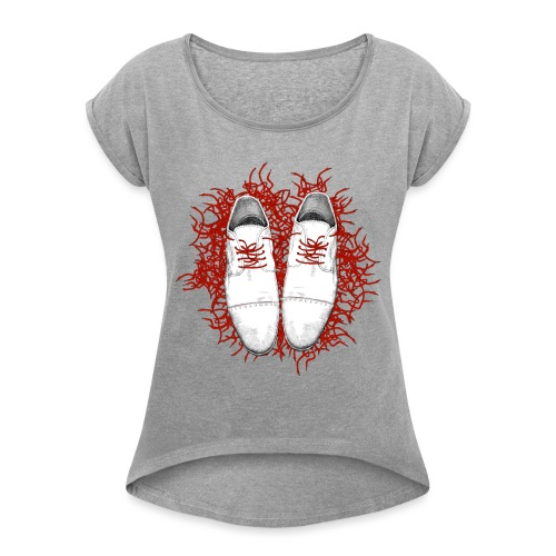 3500x4000x300dpichaussure - T-shirt à manches retroussées Femme