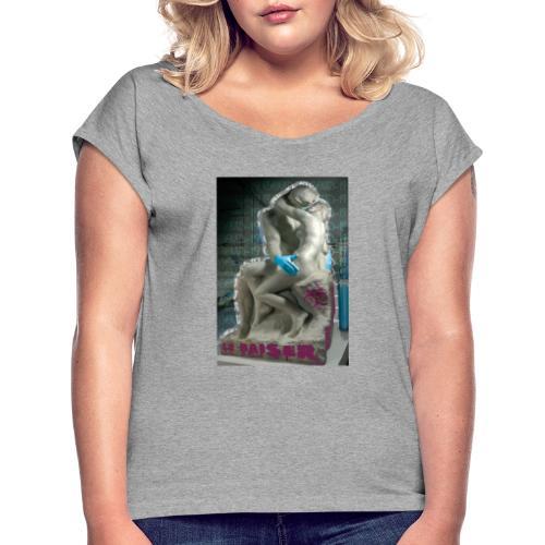 Le baiser - Camiseta con manga enrollada mujer
