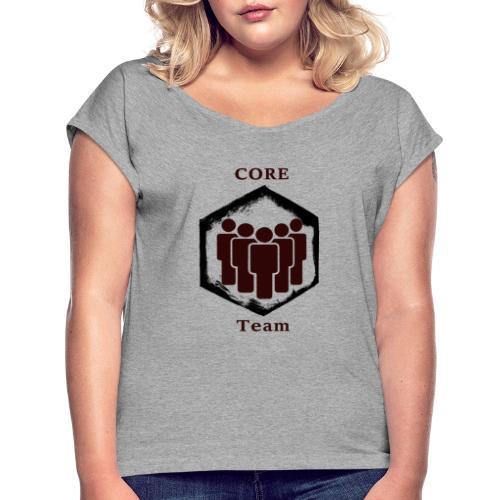 CoreTeam - Frauen T-Shirt mit gerollten Ärmeln
