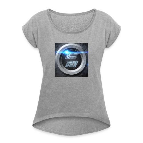EasyMo0ad - Frauen T-Shirt mit gerollten Ärmeln