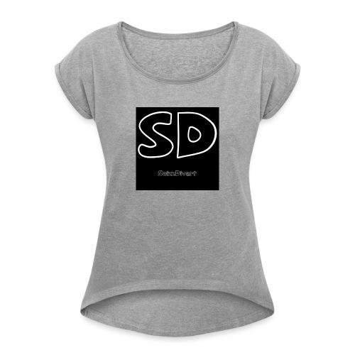 SwizzDivert Schlicht - Frauen T-Shirt mit gerollten Ärmeln