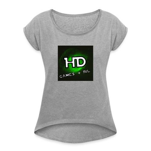 GurraHD keps - T-shirt med upprullade ärmar dam