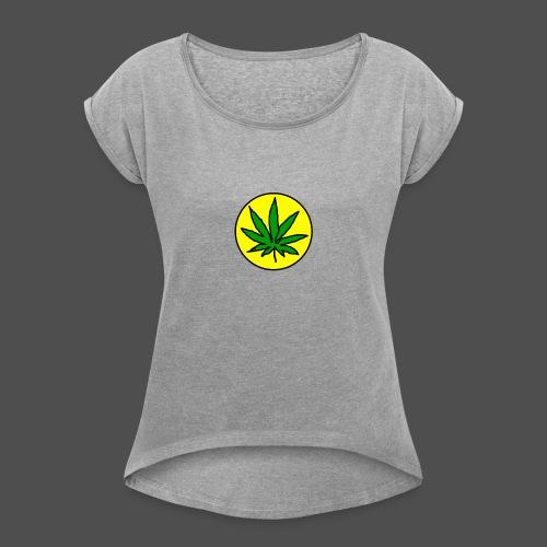 Dayweed_inc_logo - Dame T-shirt med rulleærmer