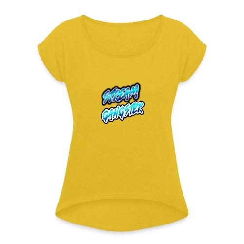 StreamGangsterMerchandise - Vrouwen T-shirt met opgerolde mouwen