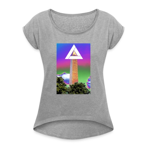 SIXTH DIEMENSION MONUMENT - Women's T-Shirt with rolled up sleeves