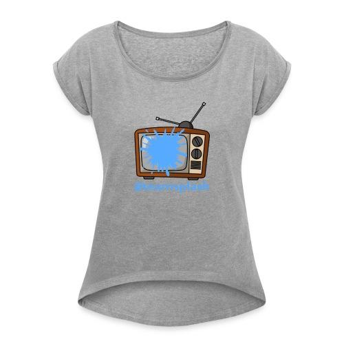 #teamsplash - T-shirt med upprullade ärmar dam
