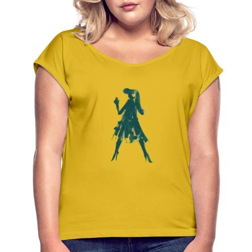 Self portrait - Maglietta da donna con risvolti