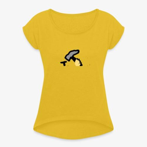 Mateba - Dame T-shirt med rulleærmer