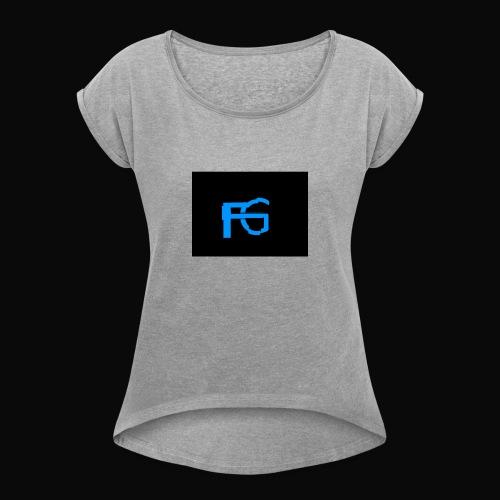 fastgamers - Vrouwen T-shirt met opgerolde mouwen