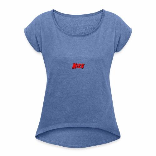 Niek Red - Vrouwen T-shirt met opgerolde mouwen