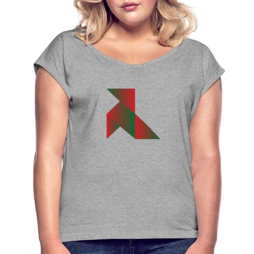 origami - Camiseta con manga enrollada mujer