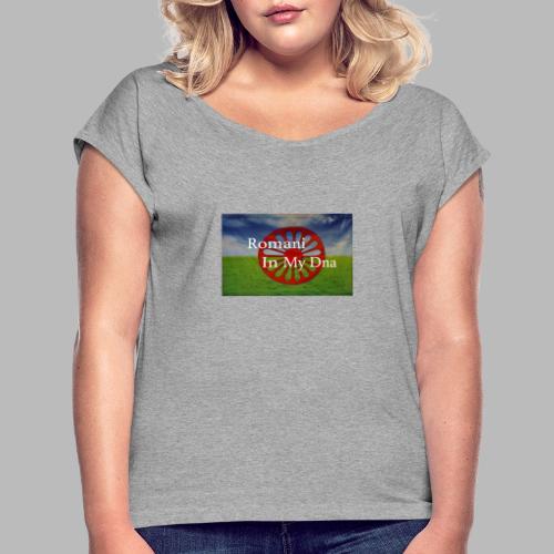flagromaniinmydna - T-shirt med upprullade ärmar dam