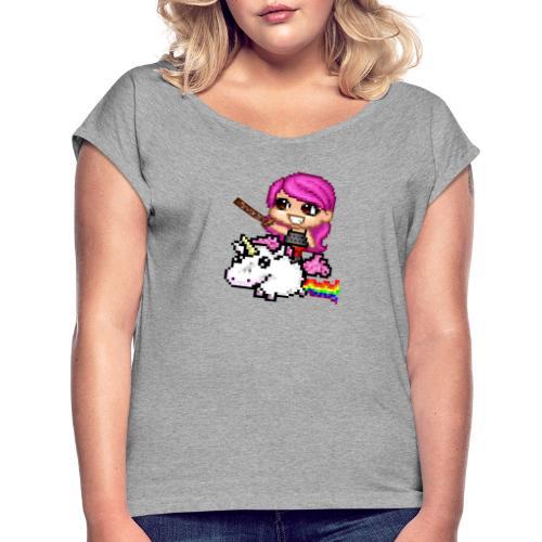 Subscriber - Vrouwen T-shirt met opgerolde mouwen
