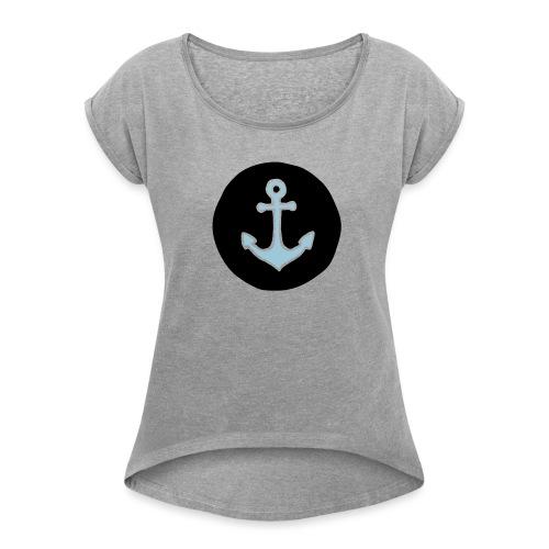 Anker - Frauen T-Shirt mit gerollten Ärmeln