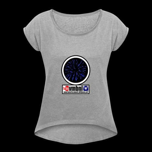 trui vrouwen! - Vrouwen T-shirt met opgerolde mouwen
