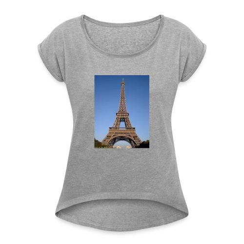 paris - T-shirt à manches retroussées Femme