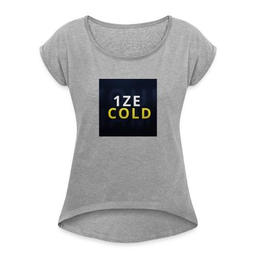 Merch Logo - Frauen T-Shirt mit gerollten Ärmeln