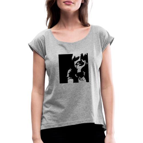 self10 - Frauen T-Shirt mit gerollten Ärmeln
