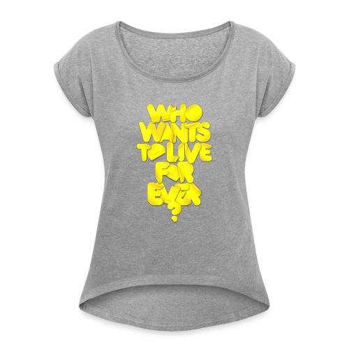 whowants? - Maglietta da donna con risvolti