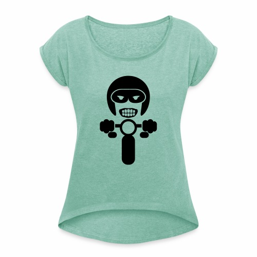 Motorcycle rider 2 - Women's T-Shirt with rolled up sleeves