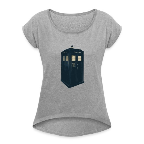 Tardis Doctor Who - Women's T-Shirt with rolled up sleeves