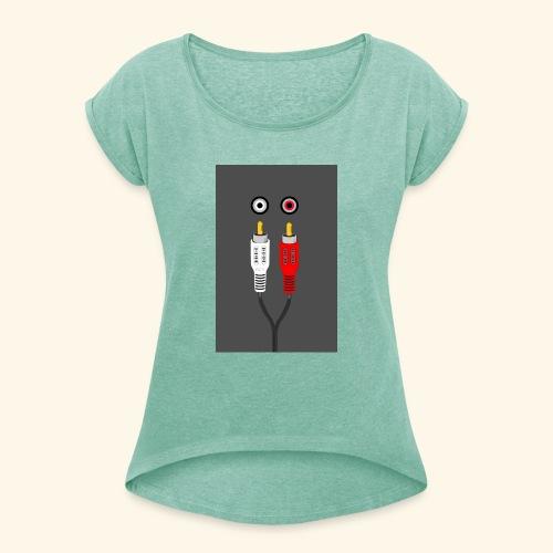 rca cable1 - Maglietta da donna con risvolti