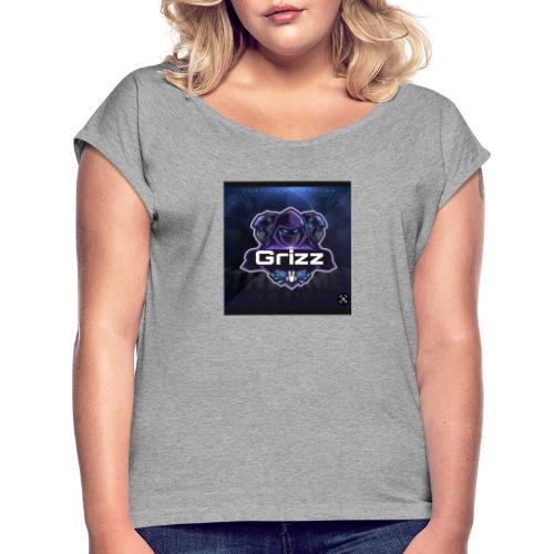 169ECDDC E643 4B1A 9279 130C0C963DA3 - Frauen T-Shirt mit gerollten Ärmeln