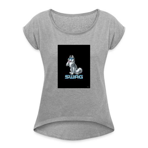 Husky Swag - Frauen T-Shirt mit gerollten Ärmeln