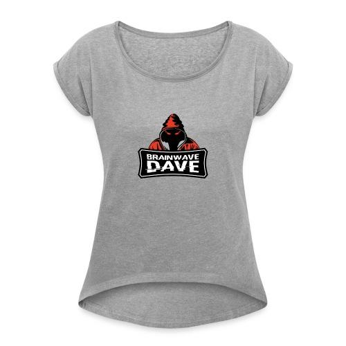 brainshock - Frauen T-Shirt mit gerollten Ärmeln