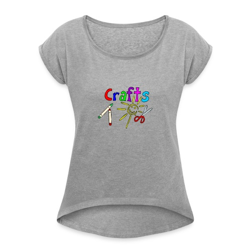 Crafts - Women's T-Shirt with rolled up sleeves